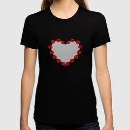 Lady Bug Heart T-shirt