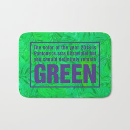 Green and Ultra Violet Bath Mat