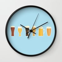 beer Wall Clocks featuring Beer by Sara Showalter