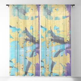 Softly peeling paint Sheer Curtain
