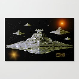 Galactic Battle Cruisers  Canvas Print