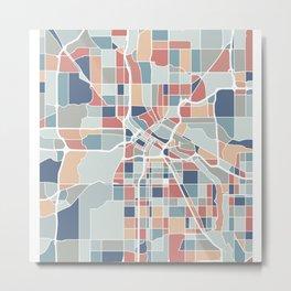 Minneapolis Map Art Metal Print