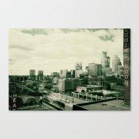 minneapolis Canvas Prints featuring Minneapolis by Adiel Louv