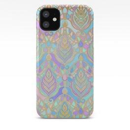 Jade & Blue Enamel Art Deco Pattern iPhone Case