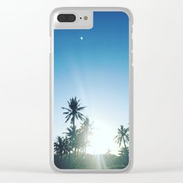 Sunrise chasing the Moon Clear iPhone Case