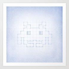 A SPACE PLAN Art Print