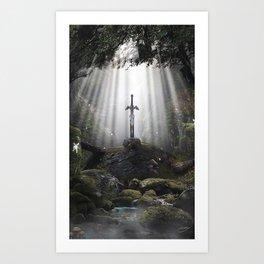 Master Sword in Ruins (Breath of the Wild) Art Print