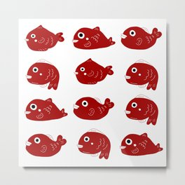 Lucky fishies Metal Print
