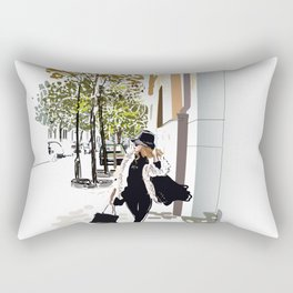Autumn Girl Rectangular Pillow