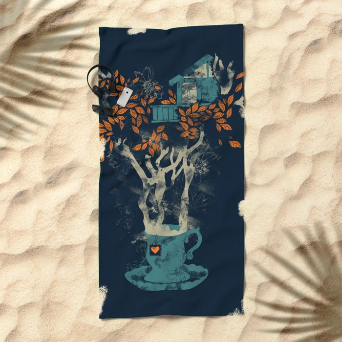 Tea House Beach Towel