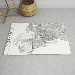 Copenhagen White Map Rug