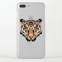 Low Poly Tiger Clear iPhone Case
