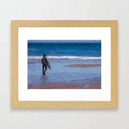 Waiting for the Wave Framed Art Print