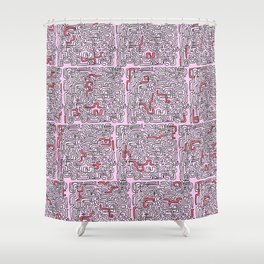 Snakes & Ladders Shower Curtain