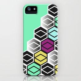 HexagonWall iPhone Case