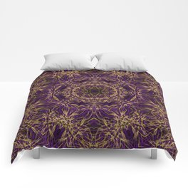 Purple Mandala Hippie Pattern Comforters
