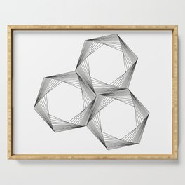 crazy hexagons Serving Tray