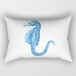 Seahorse nautical blue watercolor Rectangular Pillow