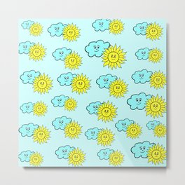 Cute baby design in blue Metal Print