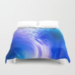 Blue Splash Abstract Duvet Cover