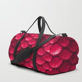 Ruby Red Mermaid Tail Scales Duffle Bag