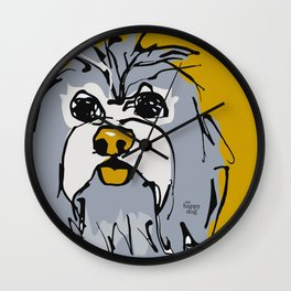 Lulz - gray/yellow Wall Clock
