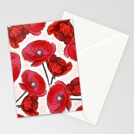 the poppy Stationery Cards