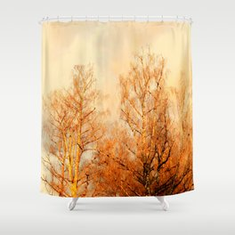 TREES AT SUNSET - MOUNT ANGEL OREGON Shower Curtain