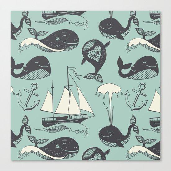 Whales 2 Canvas Print