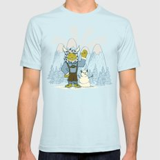 Winter In Germany SMALL Light Blue Mens Fitted Tee