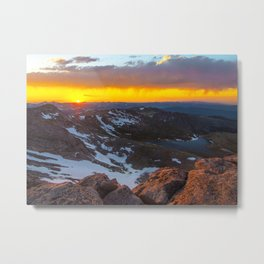The View From The Top Metal Print