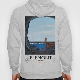 Plémont Jersey cave travel poster Hoody