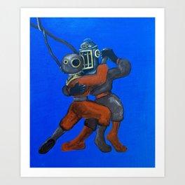 Two Divers, Dancing Art Print