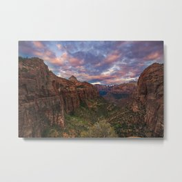 Sunrise from Zion Metal Print