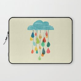 cloudy with a chance of rainbow Laptop Sleeve