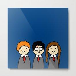 Hogwarts Trio Metal Print