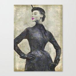 pretty little black dress Canvas Print