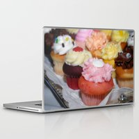cupcakes Laptop & iPad Skins featuring Cupcakes by Colleen G. Drew