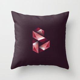 Alphabet letter polygon B Throw Pillow