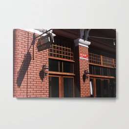 Red Brick Wall... Metal Print