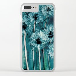 Dandelion Wishes Clear iPhone Case
