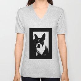 Boston Terrier Love Unisex V-Neck