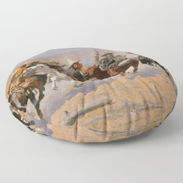 A Dash for the Timber - Frederic Remington Floor Pillow