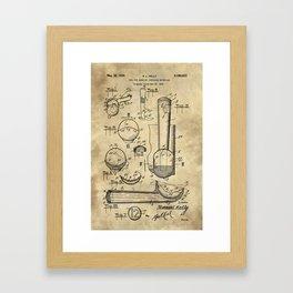 Ice Cream Scoop Blueprint Industrial Farmhouse Framed Art Print