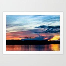 La Conner Sunset Art Print