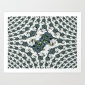 Hydrangeas - White & Blue Floral by moonshineparadise