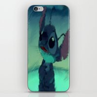 stitch iPhone & iPod Skins featuring Stitch by Princess Goldilocks