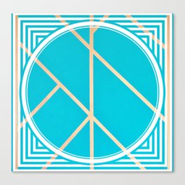Leaf - circle/line graphic Canvas Print