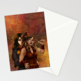 Fire Nation Korra and Asami Stationery Cards