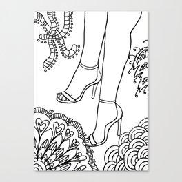 foot fetish Canvas Print